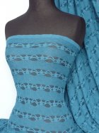 Lace 4 Way Stretch Stripe Fabric- Teal Blue Q585 TLBL