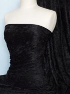 Crushed Velvet/Velour Stretch Material- Black Q156 BK