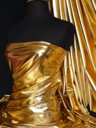 Wet Look Foil Stretch Lycra Fabric- Gold NG253 GLD