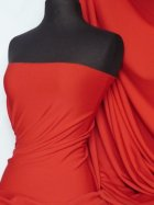 Scuba Stretch Poly Lycra Fabric- Red Q792 RD