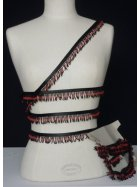 Gothic Red/Black Beaded Fringe Trimming