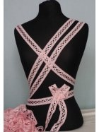 3 Metres Criss-Cross Ribbon Trim- Baby Pink SY50 BPN