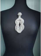 Knotted Design Chain Embellishment- Silver EM186 SLV