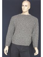 MEN'S 100% Pure Wool Rope Jumper- Grey (CV7) GR
