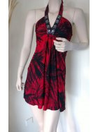 Little Red Jungle Print Halter-Neck Dress