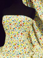 100% Cotton Interlock Knit Soft Jersey T-Shirt Fabric- Funky Spots  Q1101 YLTQRD