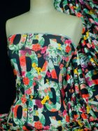 Silk Touch 4 Way Stretch Fabric- Letter Multi Floral Q1195 LFMLT