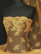 Non-Stretch Flounce Scalloped Rigid Lace- Gold Q298 GLD