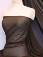 Soft Touch (112 cms) Sheer Chiffon Fabric- Brown SQ30 BR