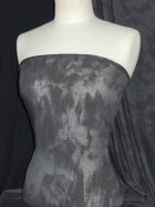Clearance Cloud Grey Tie Dye 100% Viscose Stretch Fabric