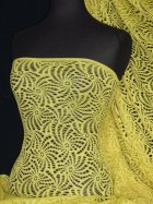 Knitted Crochet Stretch Fabric Material- Yellow KNT39 YL
