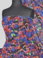 Chiffon Soft Touch Sheer Fabric - Floral Fusion PCH31 BLRD