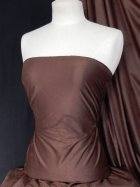 Suedette Stretch Fabric Material- Mid Brown Q503 MBR