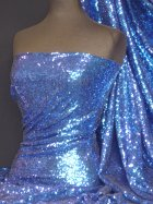 Showtime Fabric All Over Stitched 3mm Sequins - Royal Blue SEQ53 RBL