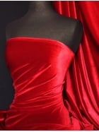 Micro Velvet Velour Fabric Luxuriously Soft Velvet- Red MVEL22 RD