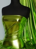 Wet Look Foil 4 Way Stretch Lycra Fabric- Lime Green NG253 LM