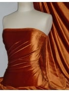 Velvet/Velour 4 Way Stretch Spandex Lycra- Rust Q559 RST