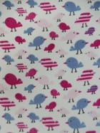 Polar Fleece Anti Pill Washable Soft Fabric- Tweetie Birds PF229 PNBL