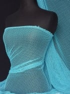 Fishnet (6mm) 4 Way Stretch Material- Turquoise Q319 TQS