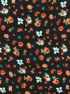 Crepe Blouse Fabric- Miniature Florals Black/Multi CRP4 BKMLT