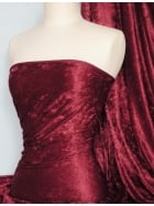 Crushed Velvet/Velour Stretch Material- Claret Q156 CLT