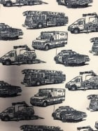 Smooth Touch Woven Stretch Fabric- Emergency Vehicles SMT16 IVNY