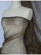 Tie-Dye Fishnet 4 Way Stretch Material- Dark Khaki Q712 DKKH
