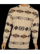 MEN'S Crew Neck Vintage Retro Snowflake Jumper- CV2 CRM
