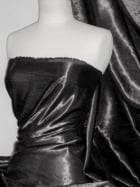 Satin Crushed Charlotte Creased Look Fabric- Black STN66 BK