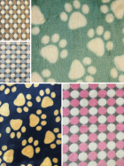 Micro Fleece Ultra Soft Fabric Printed Paws Spots- SQ221