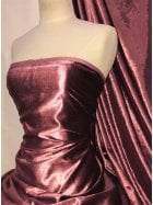 Crushed (Satin Look) Glitz Velour/Velvet Woven Interior Fabric- Rosewood Pink SQ269 RSWD