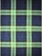 Polar Fleece Anti Pill Washable Soft Fabric- Old School Tartan Navy/Green Q1406 NYGRN