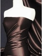 Super Soft Satin Fabric- Brown Q710 BR