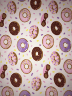 Polar Fleece Anti Pill Washable Soft Fabric- Doughnuts & Sprinkles SQ411 IVMLT