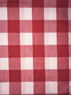 Poly Cotton Material- Red Gingham Q561 RDWHT