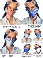 Reusable Fashion Face Mask Lightweight Stretchy & Comfortable