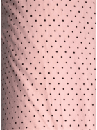 15 METRES Viscose Cotton Stretch Lycra Fabric Wholesale Roll- Pink/Black Spots JBL422 PNBK