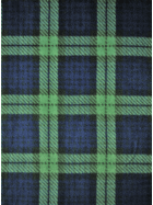 Polar Fleece Anti Pill Washable Soft Fabric- Old School Tartan Navy/Dark Green Q1406 NYDGRN