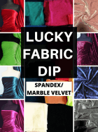 12 PIECES Lucky Dip Fabric Bundle- Velvet 4 Way Stretch Fabric