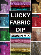 12 PIECES Lucky Dip Fabric Bundle- Showtime Stitched Sequins Fabric