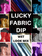 12 PIECES Lucky Dip Fabric Bundle- Wet Look Dressmaking/ Arts & Crafts Fabric