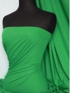 Cotton Lycra Jersey 4 Way Stretch Fabric- Leaf Green Q35 LFGR
