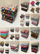 24 PACK (1/2 Metre) Clearance Polar Fleece Anti Pill Washable Soft Fabric- Prints & Plains Mix CLPF MLT