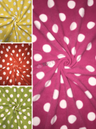 Polar Fleece Anti Pill Washable Soft Fabric- Giant Polka Dots- SQ356