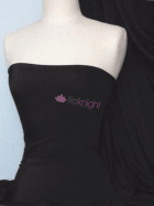 Peach Skin Soft Touch Drape Dress Fabric- Black PSK208 BK