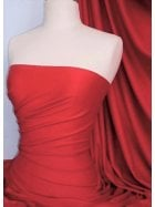 Cotton Lycra Jersey 4 Way Stretch Fabric - Red Q35 RD