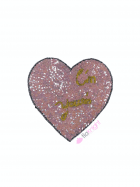 "Iron On Heart Applique- ""I'm Yours"" Lilac EM27 LLC"