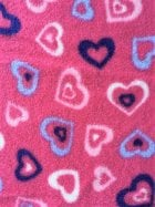 Polar Fleece Anti Pill Washable Soft Fabric- Pink Love Heart Fest Q1400 CRS