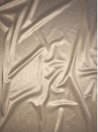 Clearance Satin Shiny Lycra Stretch Material- Buttercream SQ123 BCRM