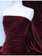 Micro Velvet Velour Fabric Luxuriously Soft Velvet- Wine MVEL22 WN